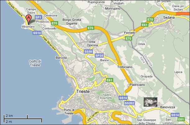 volpi stefano trieste map - photo#2